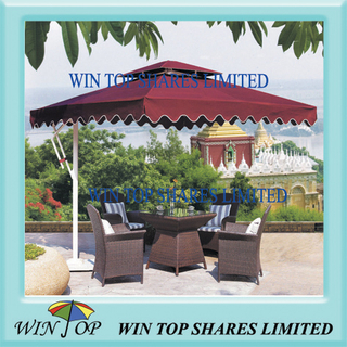 2.5 * 2.5M luxury aluminum patio umbrella