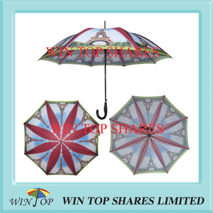 Paris Effiel Tower fashionable automatic stick Umbrella parasol