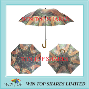 Arc 54 inch auto stick war horse hot transfer Umbrella