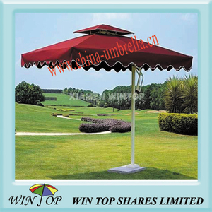 3 x 3M waterproof and UV proof side pole garden umbrella