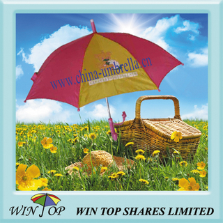 19 Inch Red and Yellow Beautiful Kid Umbrella