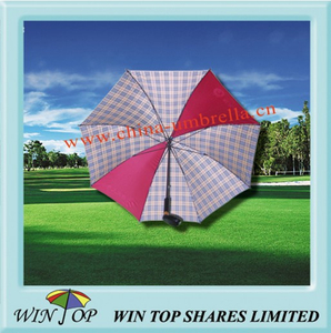 Unique Golf Umbrella with Wooden Golf Head Handle (WT6123)