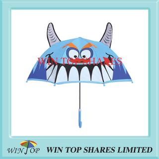 Innovative fashion Blue Monster cartoon Child Umbrella