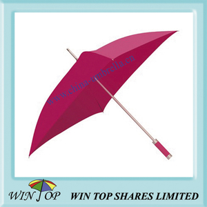 "23"" Aluminum Square Pink Umbrella"