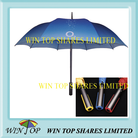 Auto Straight Aluminum Advertising Sunshade Gift Umbrella