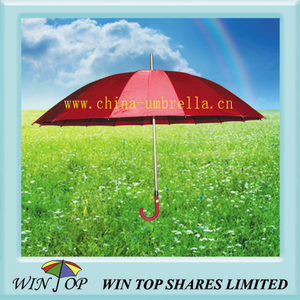 "23"" Manual Straight 16 Ribs Umbrella Marketing"