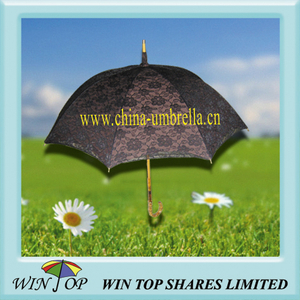 Japan Style Wood Straight Lace Umbrella Parasol