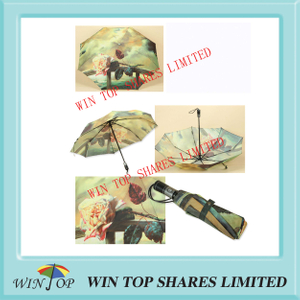 Auto Open and Close Flower Umbrella (WT3348)
