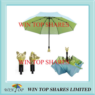 Animal Head Daily Use Europe Auto Umbrella (WT3102)