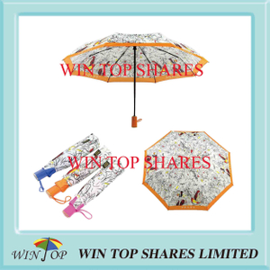 Bright Vivid Colored Adhesive Fabric Umbrella