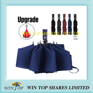 Auto open close windproof reversed inverted umbrella