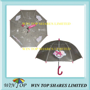 "21"" Clear Advertising EVA Poe Umbrella Product (WTP075)"