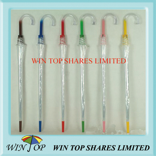 "23"" Transparent Poe Umbrella for European Market (WTP079)"