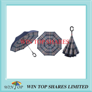 England green burberry printed inverted car umbrella