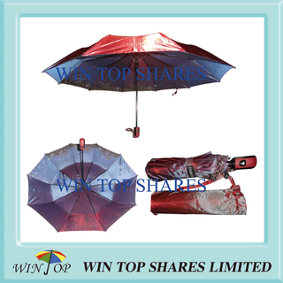 Auto Chameleon Anole Color Change Rain Umbrella