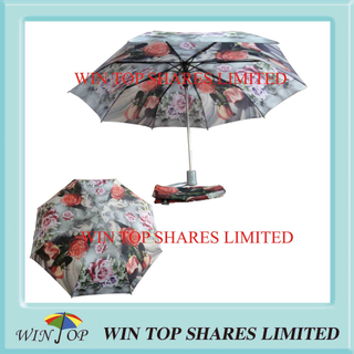 Flower Printed Auto Open Ladies Umbrella