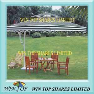 4 * 4m Aluminum Garden Furniture Umbrella