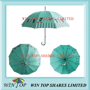 "23"" Auto Straight Fahionable Green Umbrella (WT5089)"