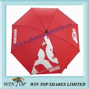"23"" Auto Straight Metal Umbrella with Logo"