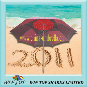 "40"" Outdoor Umbrella with UV Cut Double Canopy"