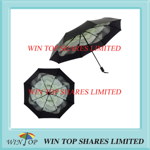 Classic three folding Anti Sun Cape jasmine Umbrella