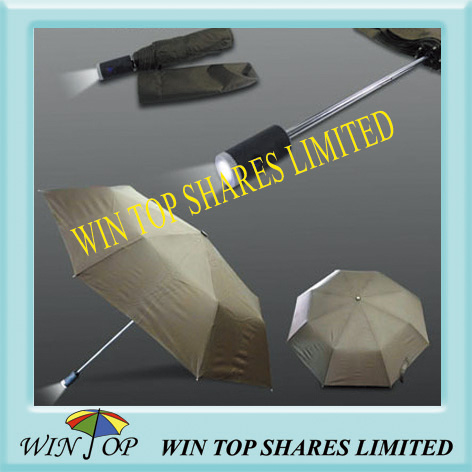 "21"" 3 Folding Advertising LED Umbrella"