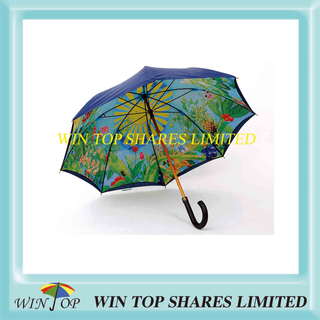 Tropical Stylish Luxury Manual Wood Umbrella (WT1072)