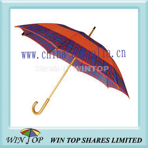 "23"" Auto Wood Polyester Umbrella (WT1004)"