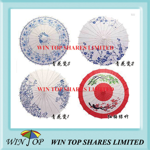 China lucky and fortunate tree craft parasol
