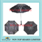 Nylon double canopies with maple leaf air vented ad Umbrella