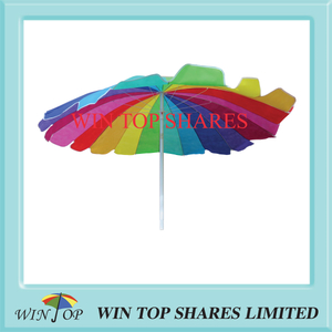 Arc 7.5FT 230cm 16 colors TNT rainbow beach Umbrella