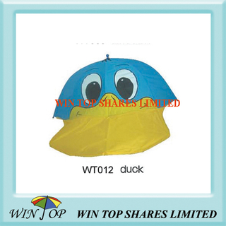 Blue and Yellow Duck Cartoon Umbrella
