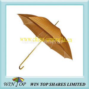 "23"" Auto Striaght Aluminum Golden Color Umbrella"