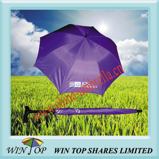 Promotional Purple Walking Stick Umbrella