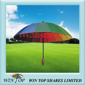Auto Straight Rainbow 16 Tone Umbrella