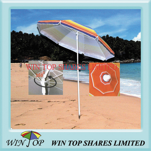 360 Degree Tilt Beach Umbrella W/ UV Resistance