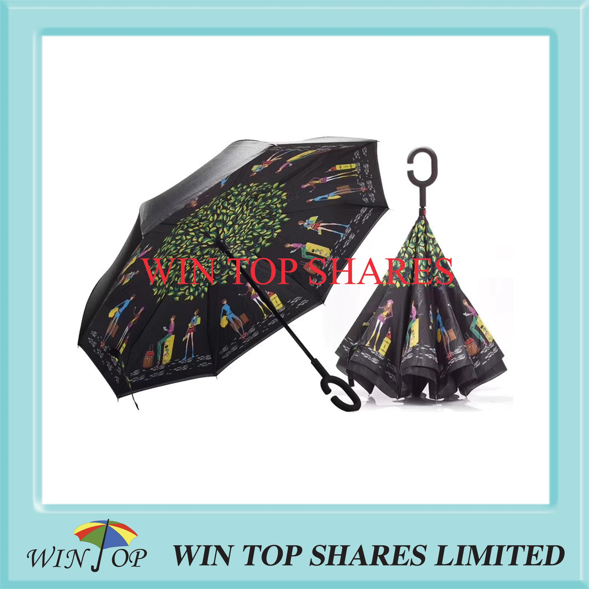 Fashion beauty strong inverting autocar driver umbrella