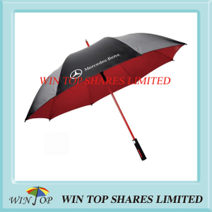 New Red fiberglass frame Promotion Benz Golf Umbrella