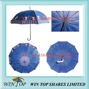 "23"" X 12 Ribs Auto Straight Cloud Umbrella"