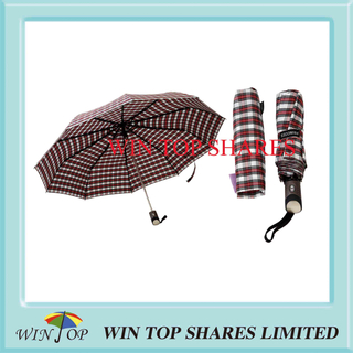 Scotland Check Fashion and Vogue Auto Umbrella