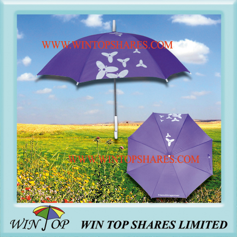 Purple Cosmetic Promotional Umbrella Gift