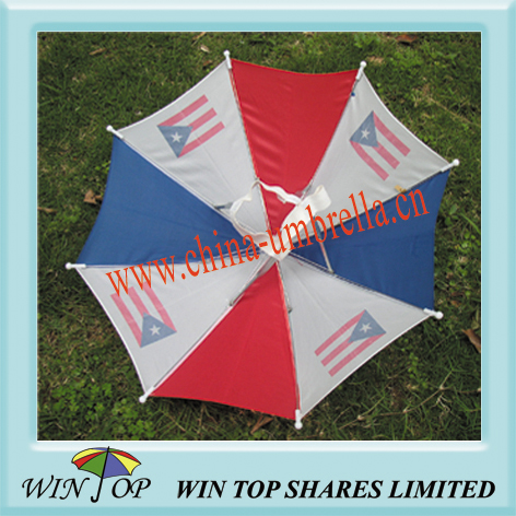 "12"" Hat Umbrella, Cap Umbrella, Head Umbrella"