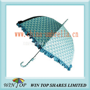 Ladies Straight Pongee Printed Umbrella (WT1220)