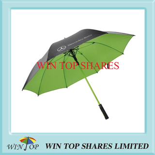 Green FBR frame advertisement Mercedes Benz Golf Umbrella
