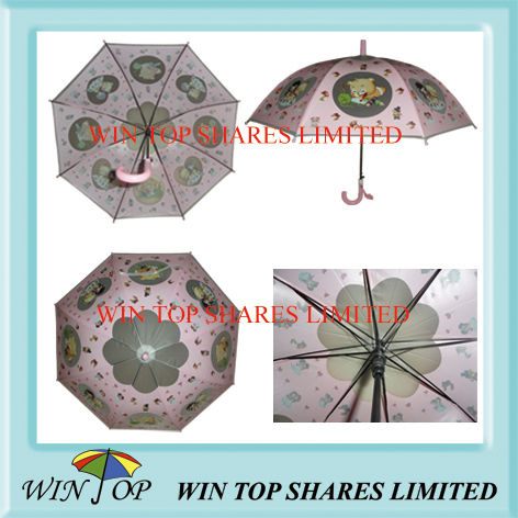 Poe/EVA Children Umbrella with Logo Printing (WT076)